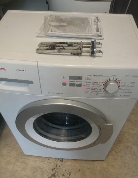 Замена тэна в стиральной машине Bosch в Могилеве