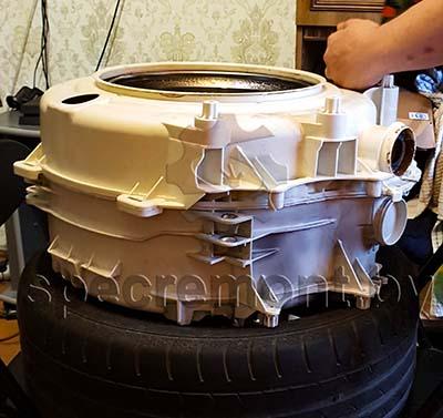 Замена подшипников в стиральной машине с неразборным баком